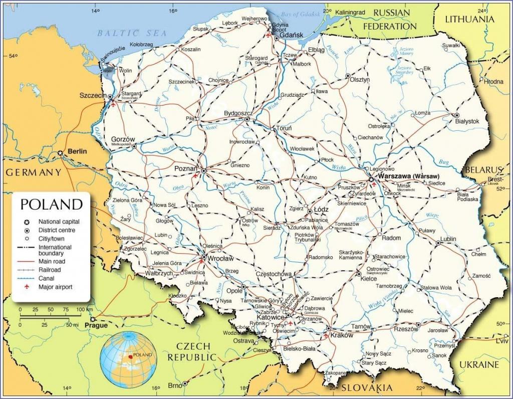 Printable Map Of Poland - Map Of Poland Printable (Eastern Europe - Printable Map Of Poland