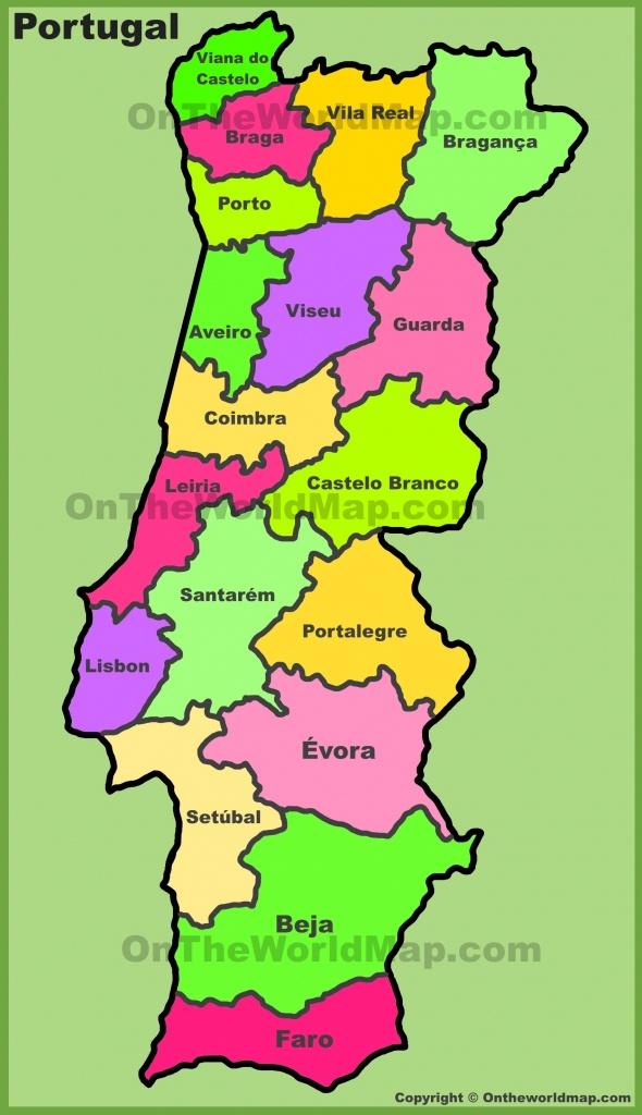Printable Map Of Portugal - Maplewebandpc - Printable Map Of Portugal