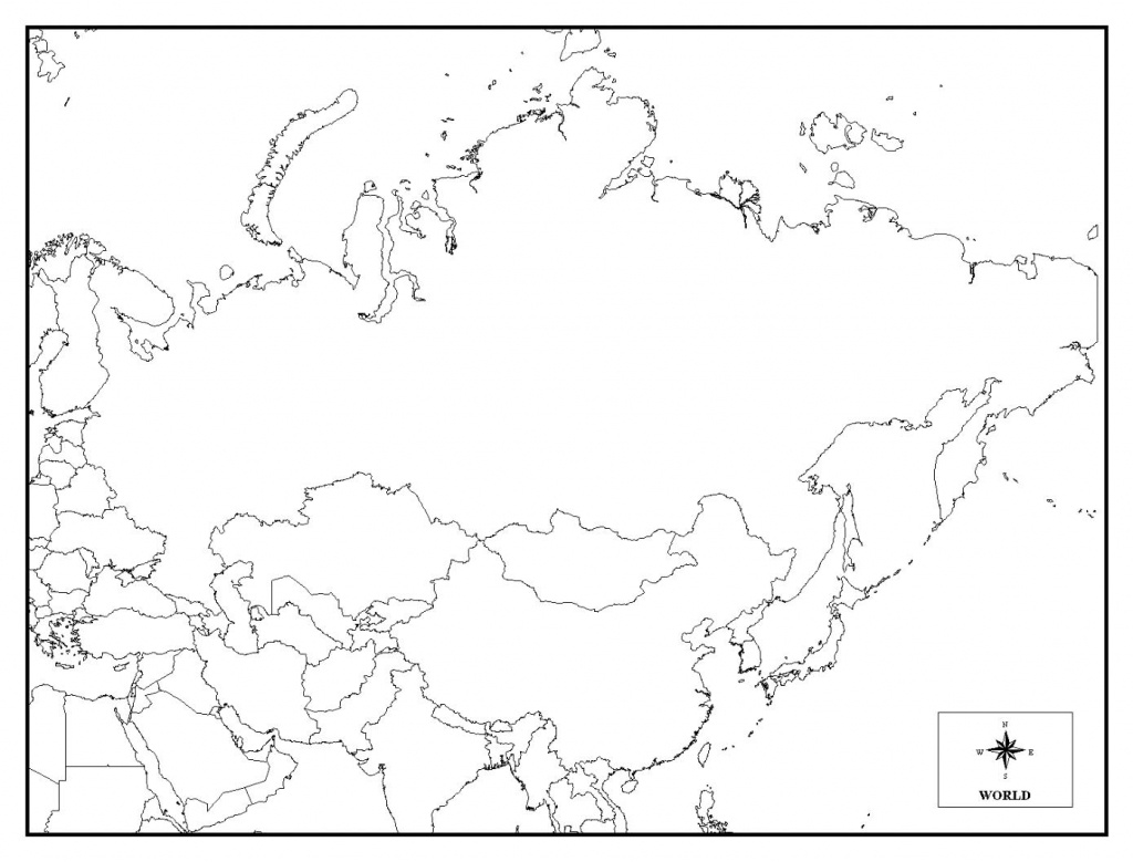 Printable Map Of Russia - Coloring Home - Printable Map Of Russia