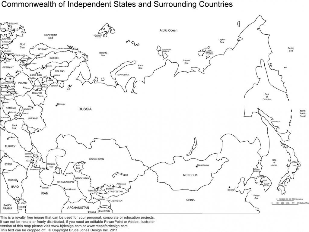 Printable Map Of Russia - Map Of Russia Printable (Eastern Europe - Printable Map Of Russia