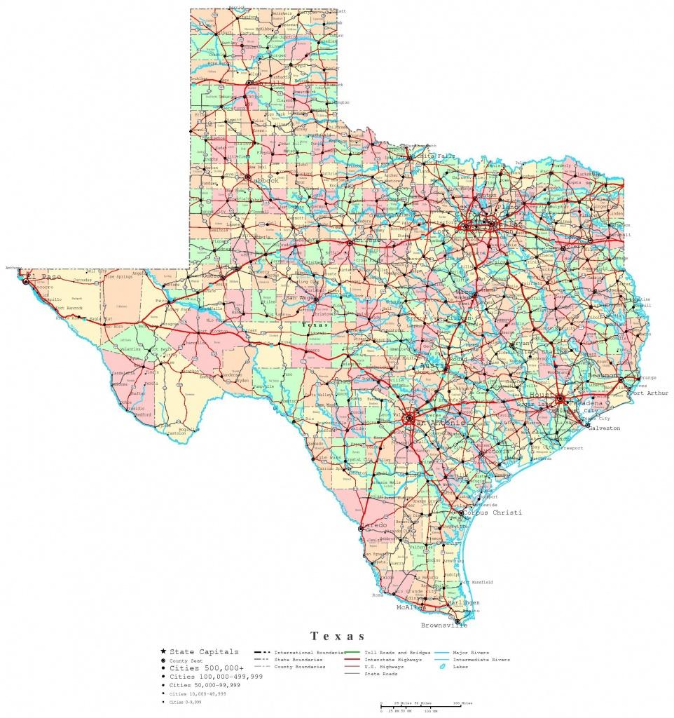 Printable Map Of Texas | Useful Info | Printable Maps, Texas State - Printable County Maps