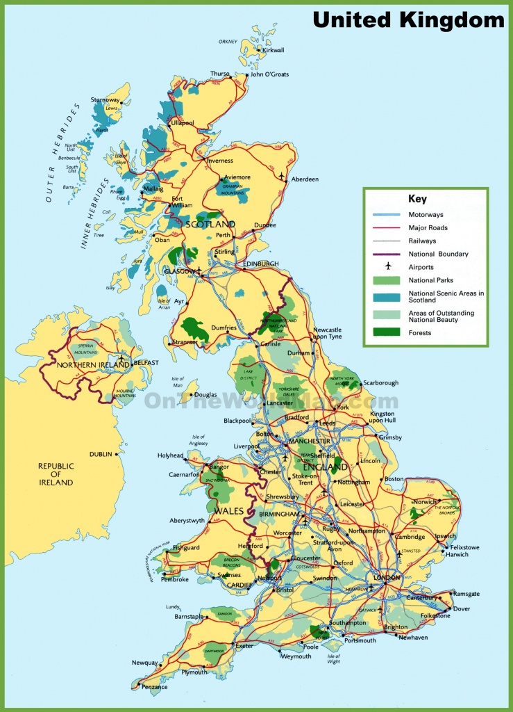 Printable Map Of Uk Towns And Cities And Travel Information - Printable Map Of England With Towns And Cities