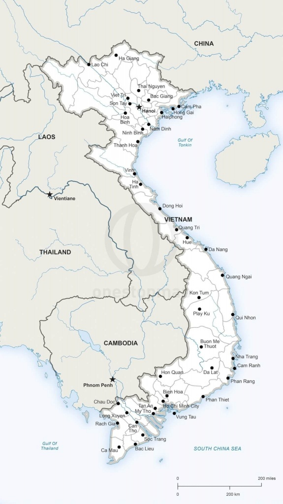 Printable Map Of Vietnam | Printable Maps | Geography | Map, Vietnam - Printable Map Of Vietnam