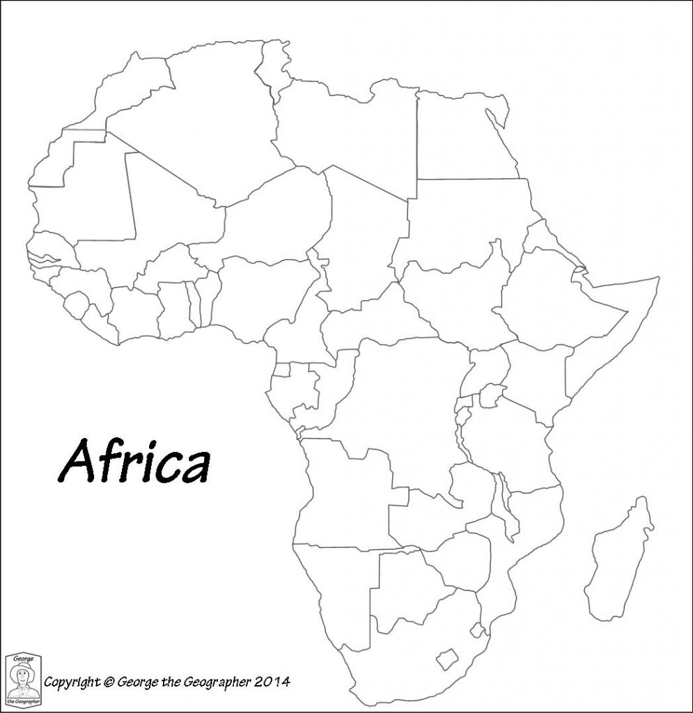 Printable Maps Of Africa | Sitedesignco - Printable Map Of Africa