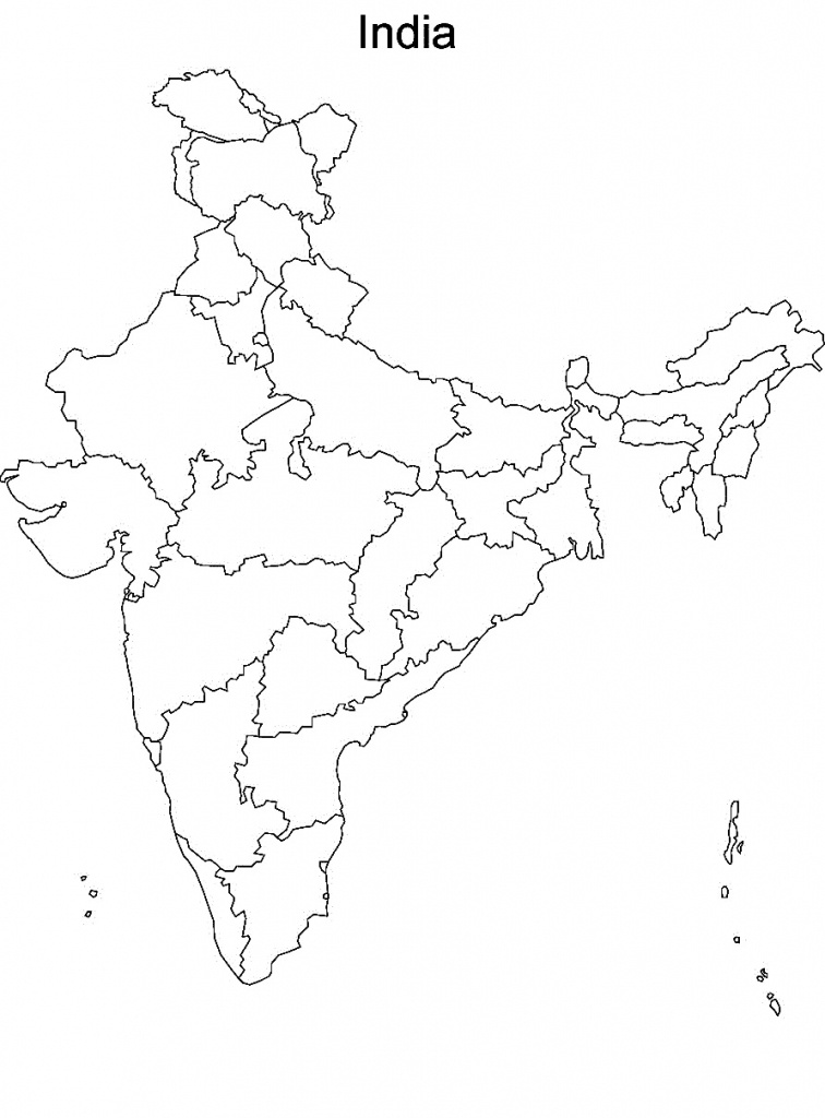 Printable Maps Of India And Travel Information   Download Free - India Political Map Outline Printable