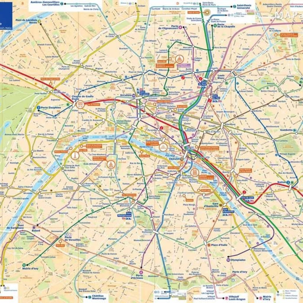 Printable Maps Of Paris Top Tourist Attractions Free Mapaplan Com - Printable Map Of Paris With Tourist Attractions