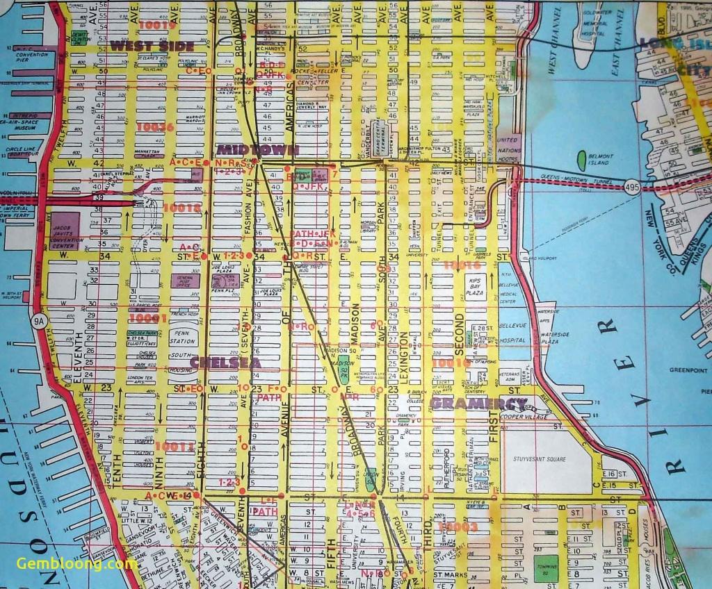 Printable New York Street Map - Capitalsource - Printable Street Map Of Manhattan