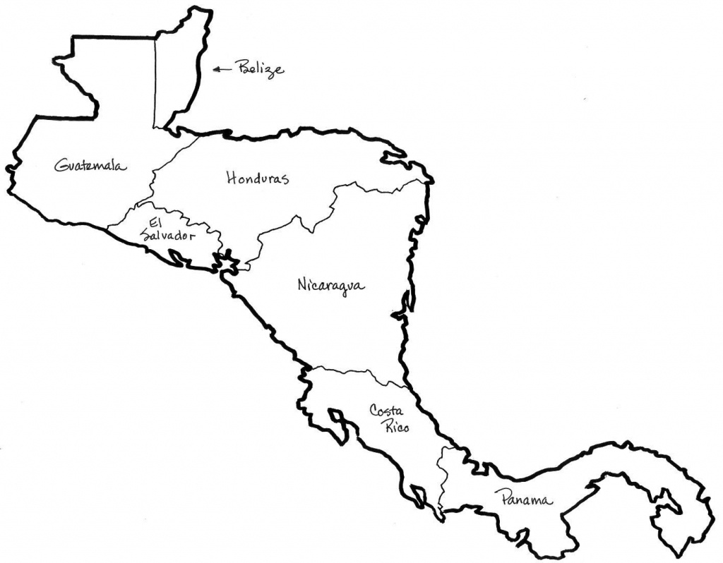 Printable Outline Maps For Kids America Map Central Free No Labels 7 - Printable Blank Map Of Central America