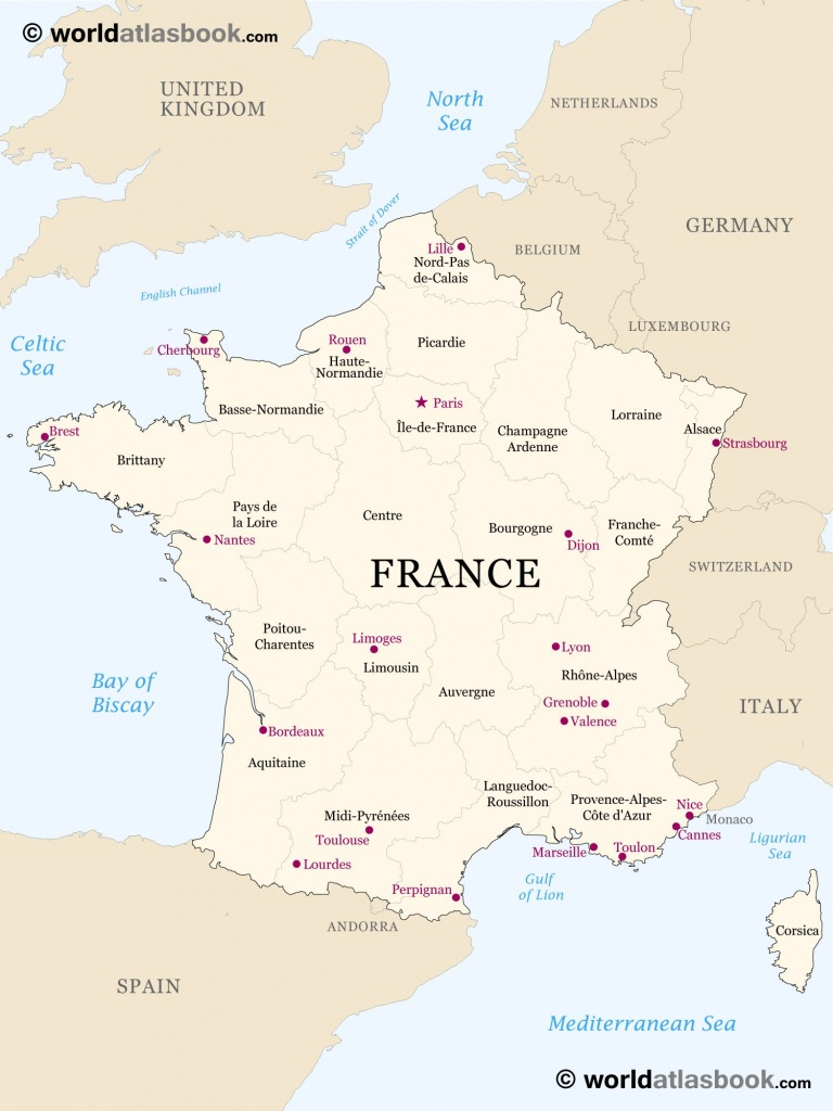 Printable Outline Maps For Kids   Map Of France Outline Blank Map Of - Printable Map Of France With Cities
