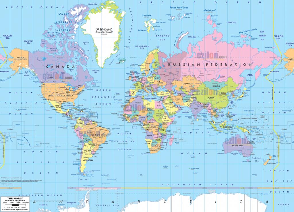 Printable Political World Map Printable Poli | Printables And - World Map With Capital Cities Printable