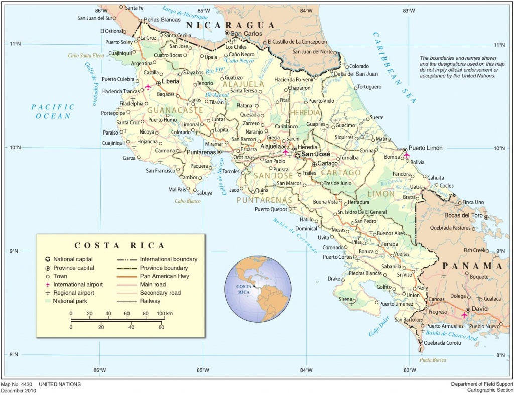 Printable Road Map Of Costa Rica | Map Of Costa Rica | Vacation - Printable Map Of Costa Rica