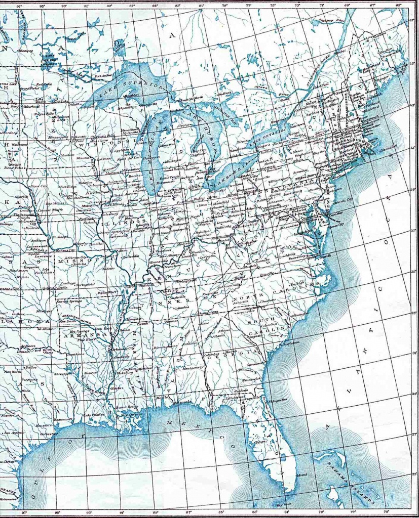 Printable Road Maps Of The United States And Travel Information - Free Printable Road Maps Of The United States