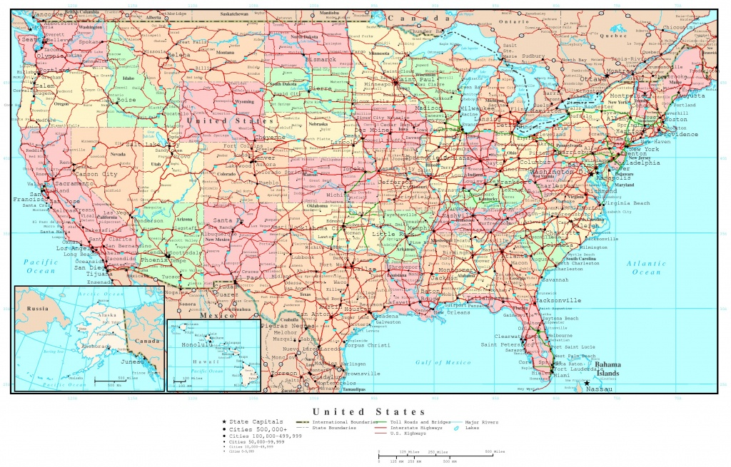 Printable Road Maps Of The United States And Travel Information - United States Road Map Printable