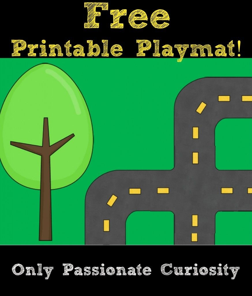 Printable Road Playmat And German Road Signs | Preschool | Community - Community Map For Kids Printable