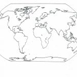 Printable Sheets Of Africa, Europe, Asia, And Australia Not Labeled   Printable World Map With Continents And Oceans Labeled