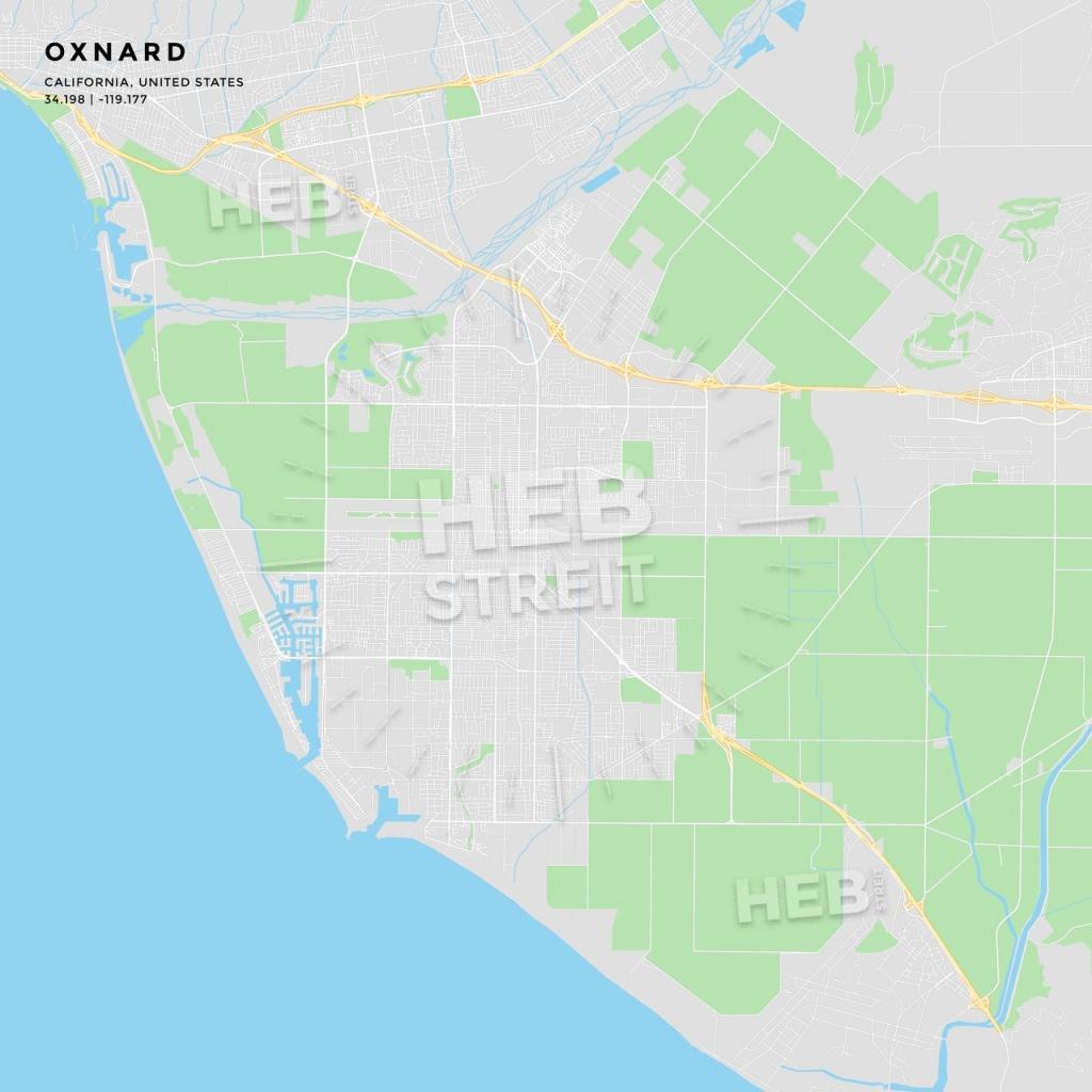 Printable Street Map Of Oxnard, California | Hebstreits Sketches - Oxnard California Map