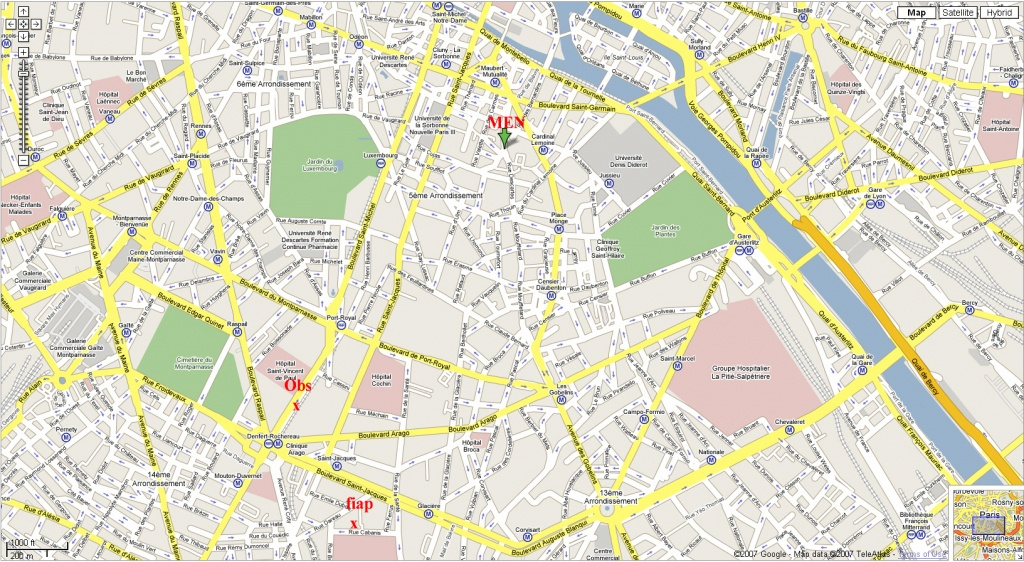 Printable Street Map Of Paris Download Printable Paris Street Map - Paris Street Map Printable