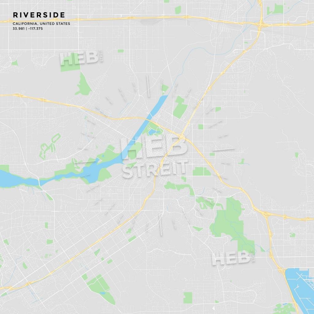 Printable Street Map Of Riverside, California   Hebstreits Sketches - Printable Map Of Riverside Ca