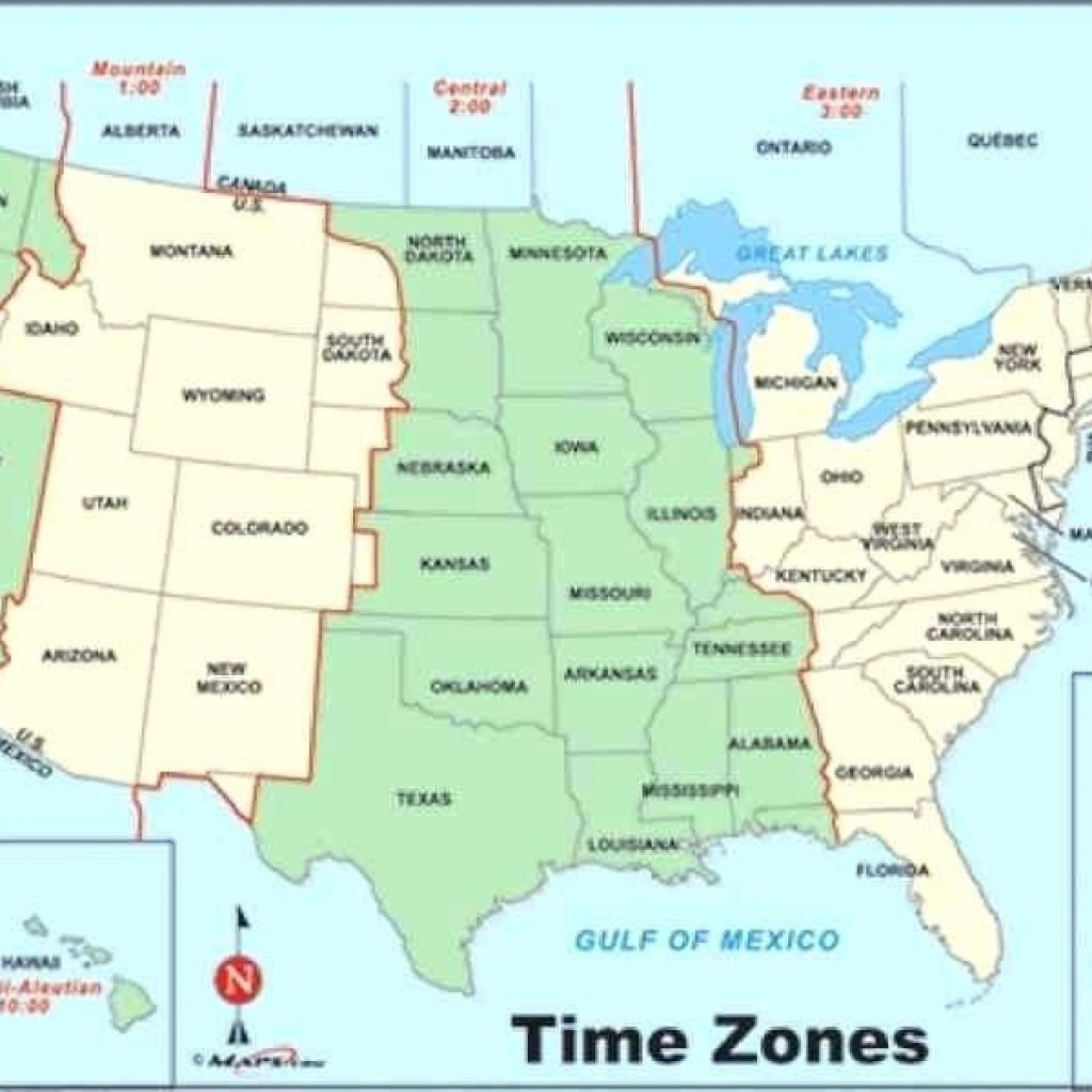 Printable Time Zone Map Change Show Me A Of Us Zones United States - Printable Time Zone Map