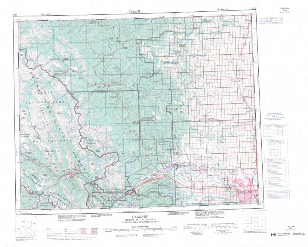 Printable Topographic Map Of Calgary 082O, Ab - Free Printable Topo Maps Online