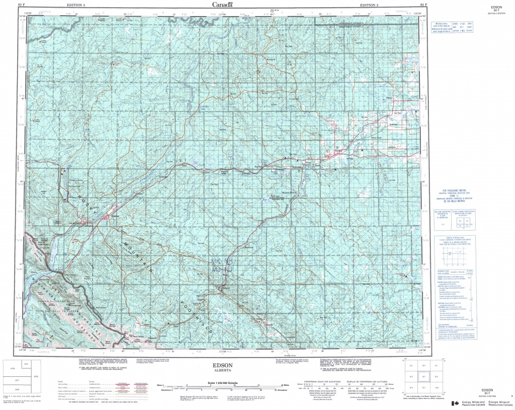 Printable Topographic Map Of Edson 083F, Ab - Free Printable Topo Maps Online