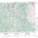 Printable Topographic Map Of Kananaskis Lakes 082J, Ab   Printable Topographic Maps Free