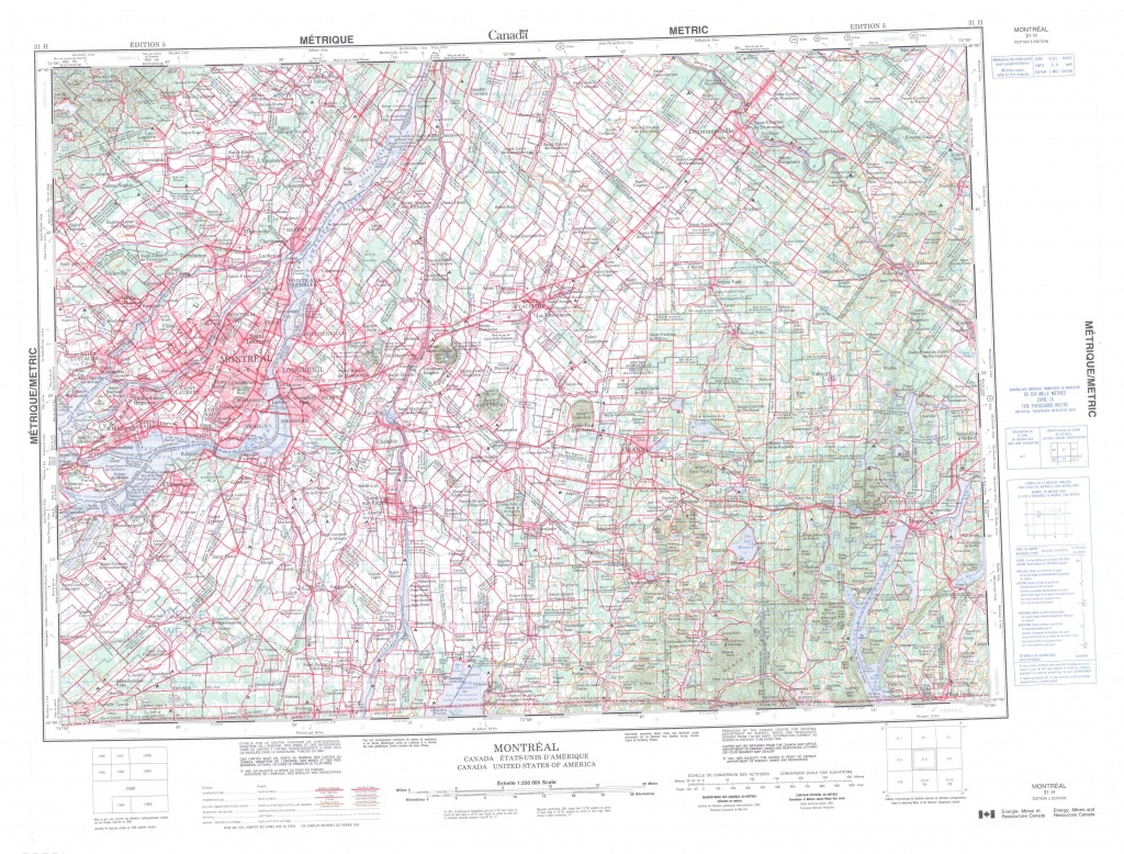 Printable Topographic Map Of Montreal 031H, Qc - Printable Topographic Maps