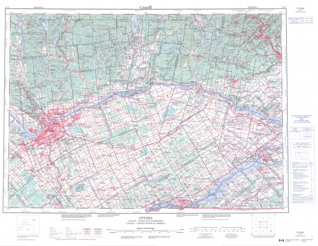 Printable Topographic Map Of Ottawa 031G, On - Printable Usgs Maps