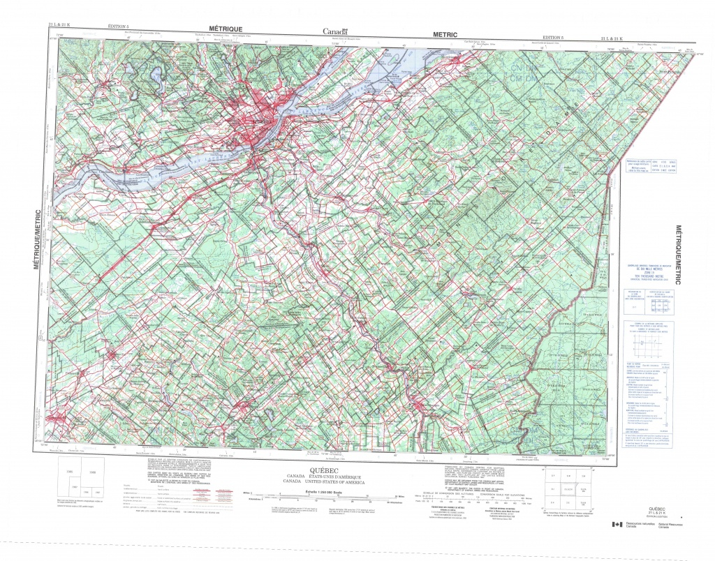 Printable Topographic Map Of Quebec 021L, Qc - Printable Usgs Maps