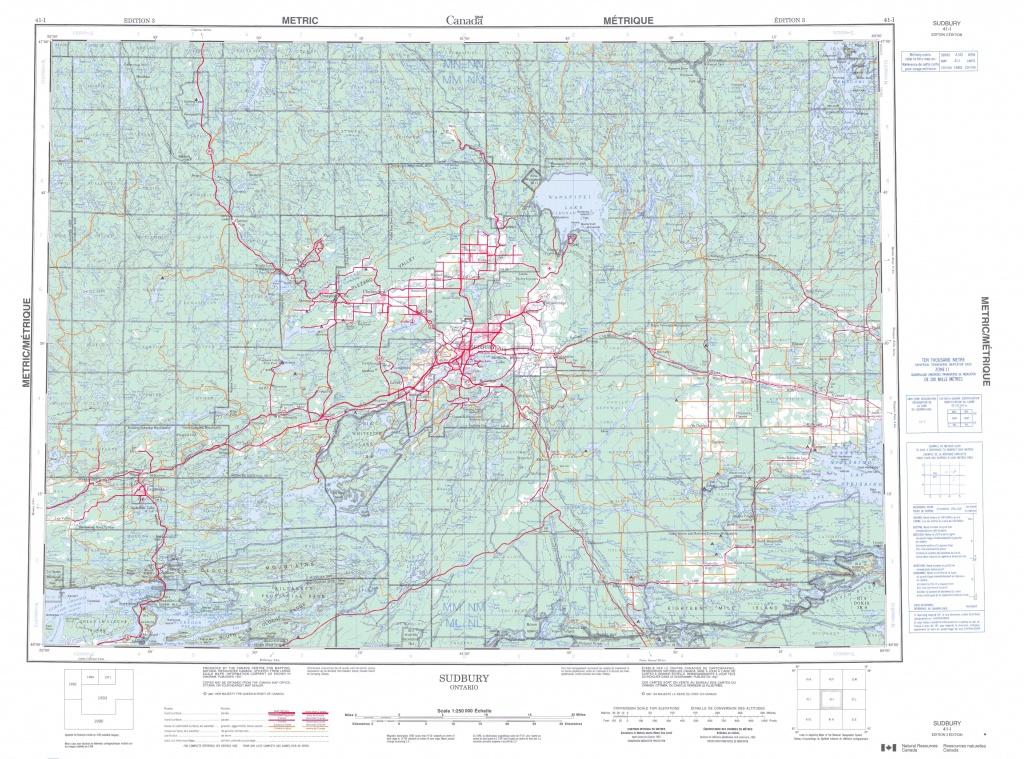 Printable Topographic Map Of Sudbury 041I, On - Printable Topographic Maps Free