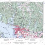 Printable Topographic Map Of Vancouver 092G, Bc   Printable Topographic Map