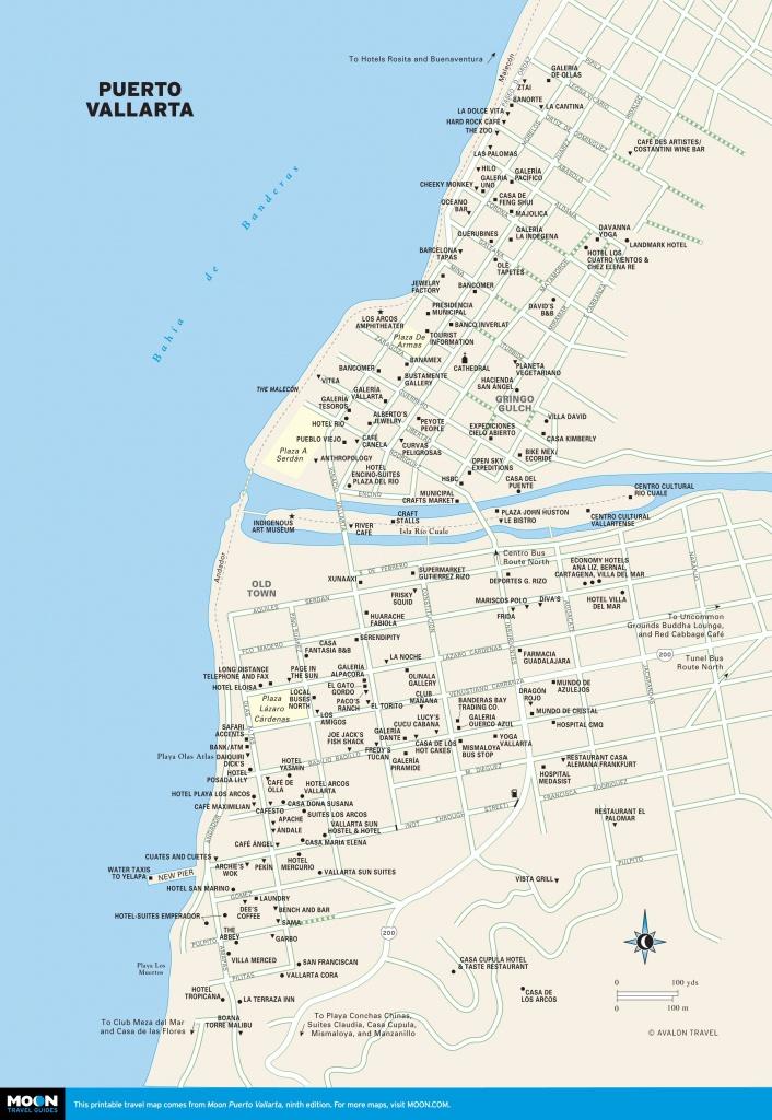 Printable Travel Maps Of Puerto Vallarta   Bucket List Or Anywhere - Puerto Vallarta Maps Printable