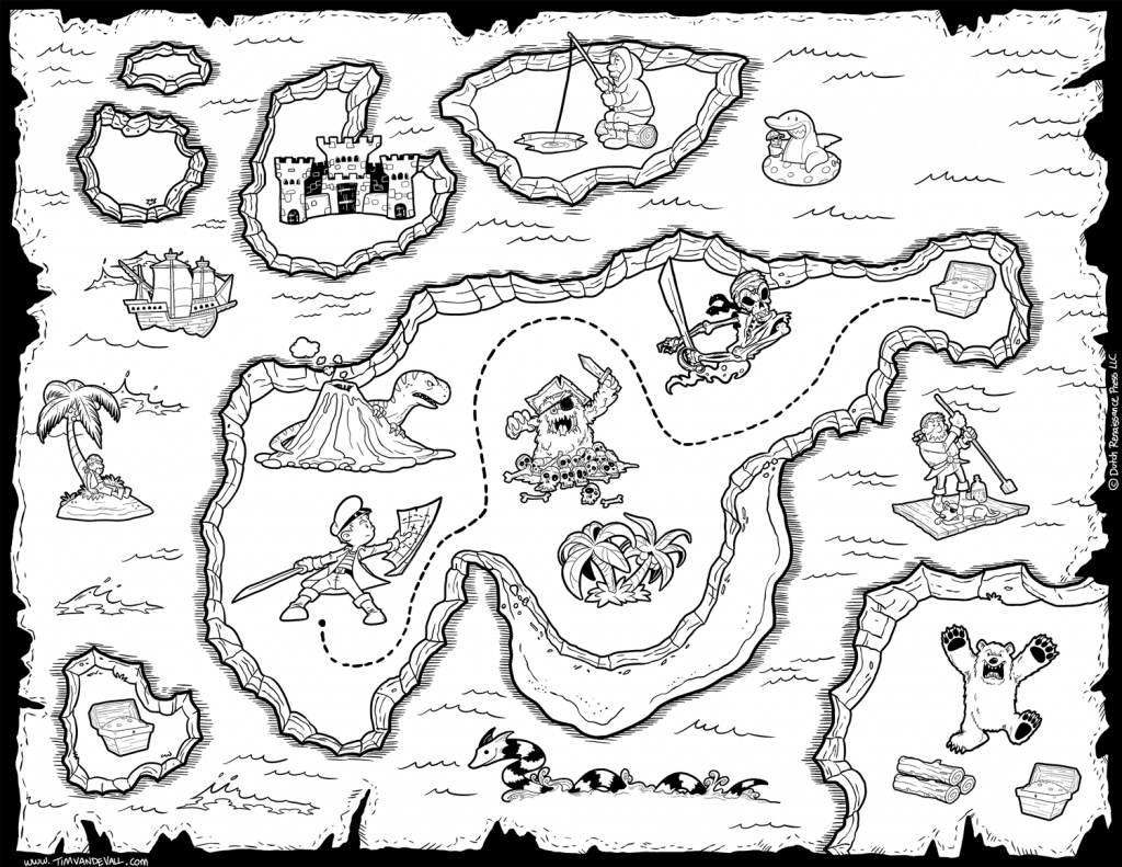 Printable Treasure Map Coloring Pages Map Coloring Pages World Map - Printable Treasure Map