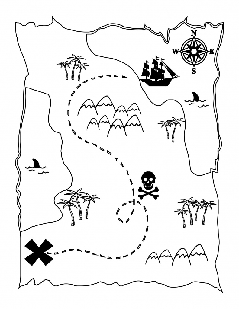 Printable Treasure Map Kids Activity | Printables | Pirate Maps - Printable Pirate Map
