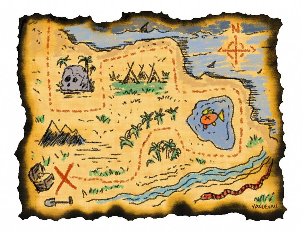 Printable Treasure Maps For Kids | Kidding Around | Treasure Maps - Printable Pirate Map