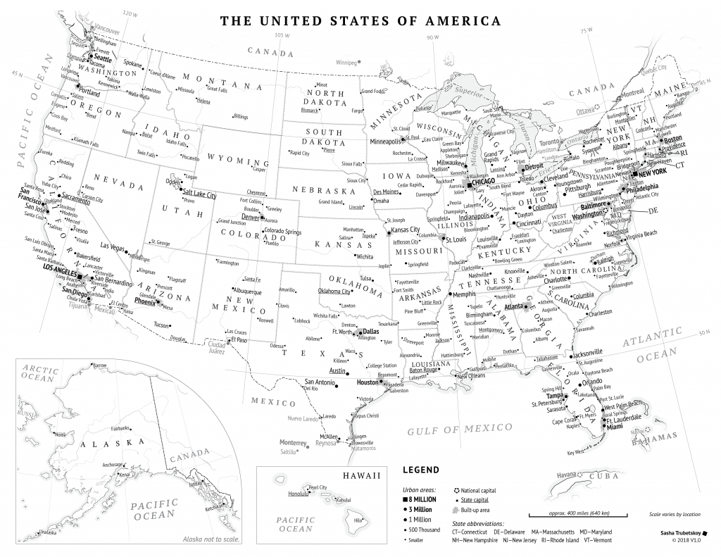 Printable United States Map – Sasha Trubetskoy - Printable Us Map With States