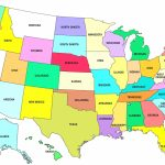 Printable Us Map Full Page | Sitedesignco   Free Printable United States Map With State Names And Capitals