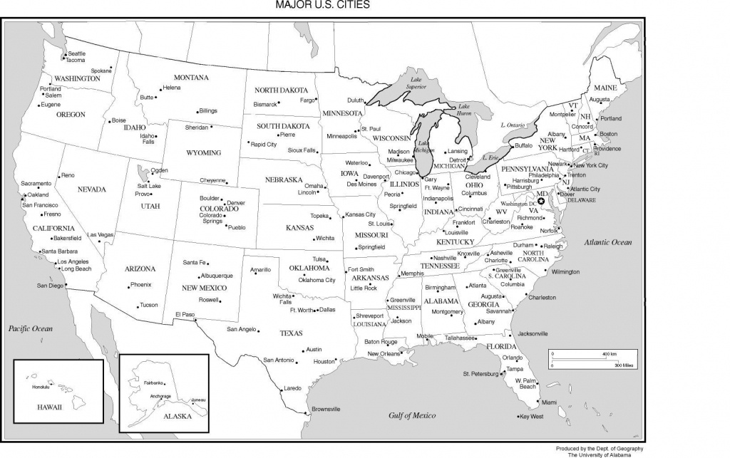 Printable Us Map With Major Cities And Travel Information | Download - Free Printable Us Map With Cities