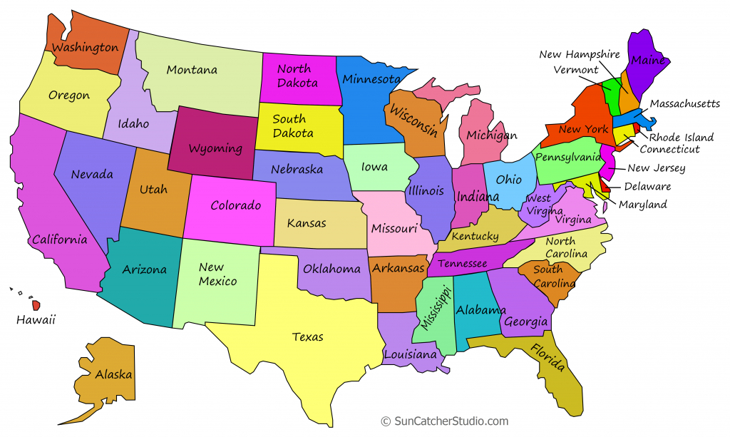 Printable Us Maps With States (Outlines Of America - United States) - Printable State Maps