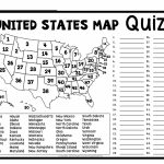 Printable Us State Map Blank Blank Us Map Quiz Printable At Fill In   Us Map Unlabeled Printable