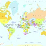 Printable World Map | B&w And Colored   World Map Printable A4
