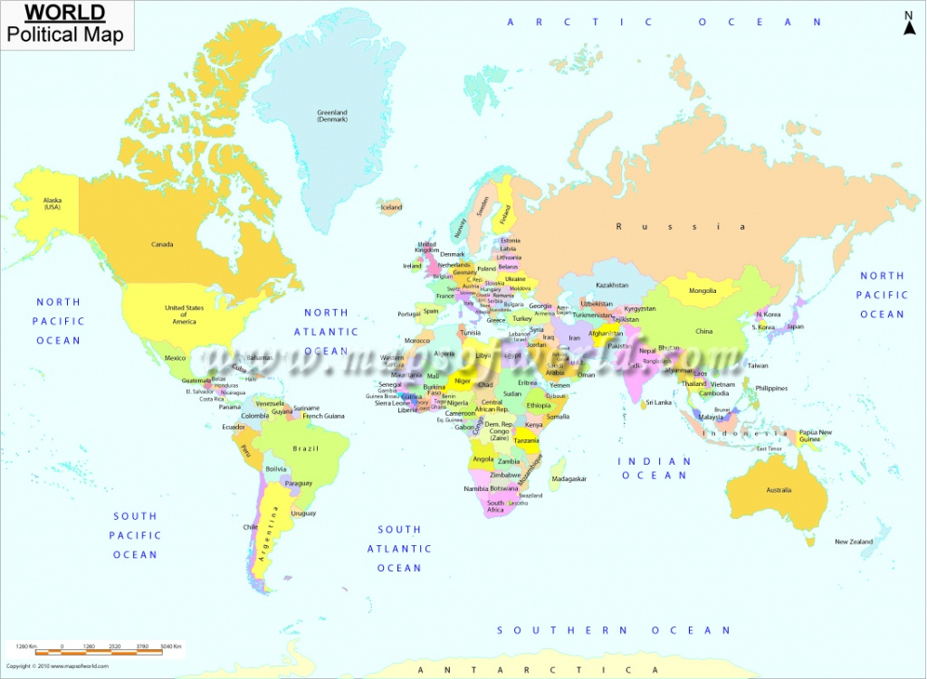 Printable World Map | B&w And Colored - World Map With Scale Printable