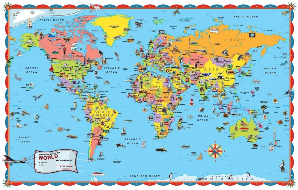 Printable World Map For Kids Incheonfair Throughout For Printable - Kid Friendly World Map Printable