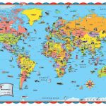 Printable World Map For Kids Incheonfair Throughout For Printable   Printable World Map For Kids