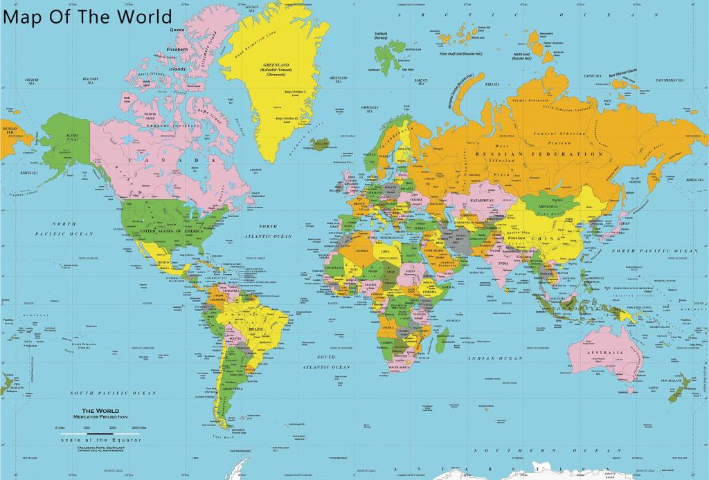 Printable World Map Free - Maplewebandpc - Printable Wall Map