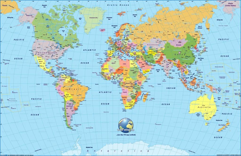 Printable World Map Large | Sitedesignco - Large Printable World Map