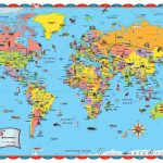 Printable World Map Poster Size Save With For Kids Countries   Printable World Maps For Students