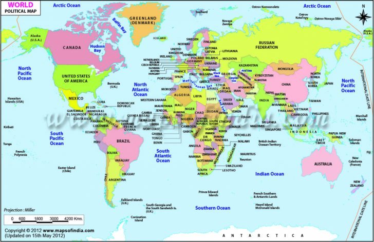 Free Printable World Map With Countries Labeled For Kids