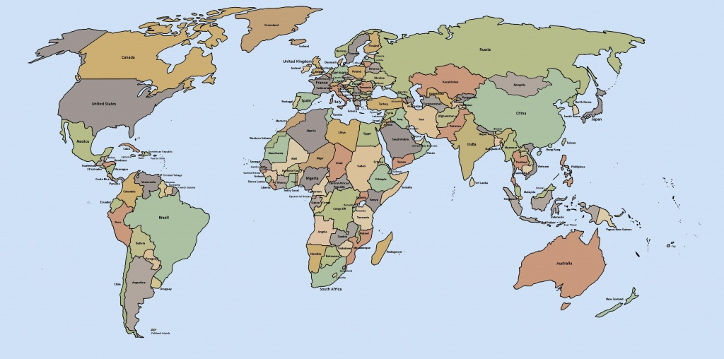 Printable World Maps - World Maps - Map Pictures - Printable World Map With Countries Labeled