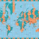 Printable World Time Zone Maps And Travel Information | Download   World Map Time Zones Printable Pdf
